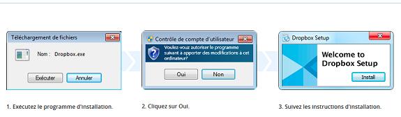 Dropbox comment ca marche - téléchargement