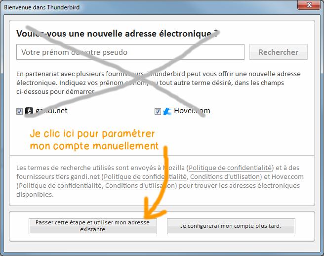 Configurer Webmail Jimdo dans Thunderbird - etape 2
