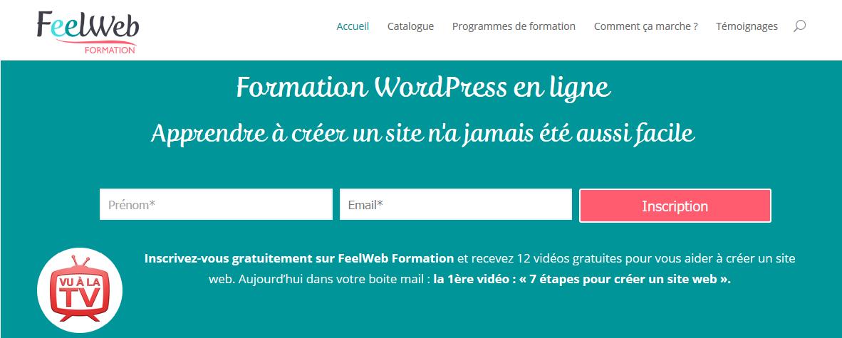 Formation HTML CSS et WordPress en ligne pour les nuls
