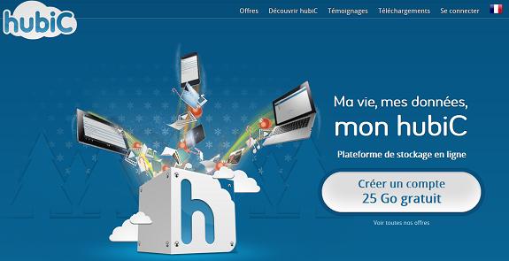 Hubic le dropbox francais | creer son propore site internet