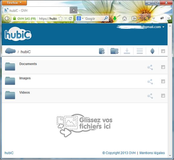 dévouvrez le Dropbox francais Hubic | Creer son site internet facilement