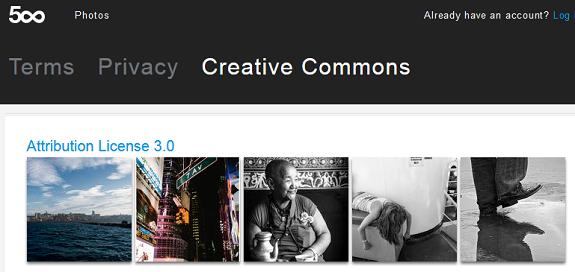 Embellir son site web avec des images 500px creative commons