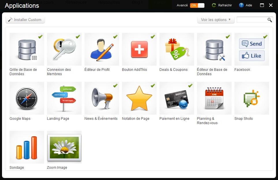 logiciel création site web gratuit, plusieurs applications inovantes