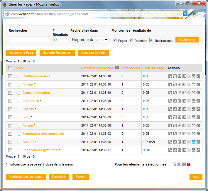 créer une page web gratuitement avec Webzoo