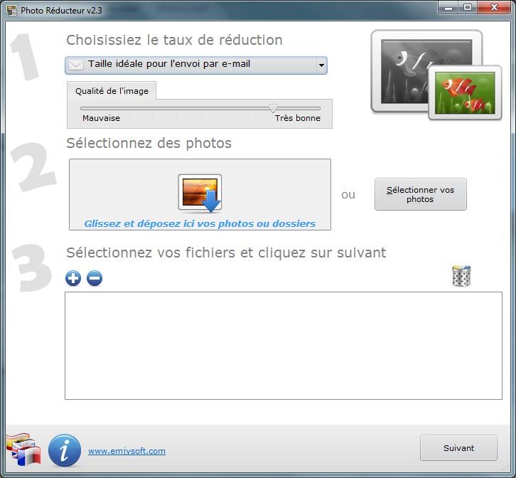 logiciel retouche photo en ligne, réduire la poids et la taille des images