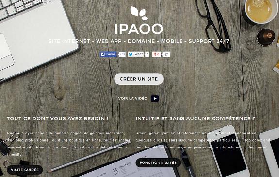 mon avis sur ipaoo, solution pour créer son propre site internet en ligne