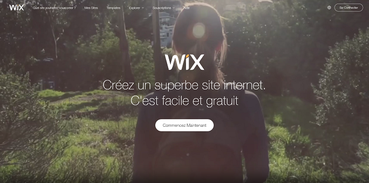 créer son propre site internet avec wix