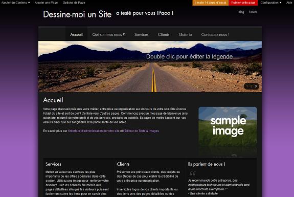 avis sur iPaoo, générateur de Site internet, créer page web responsive