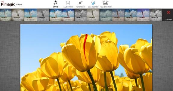 Modifier photos en ligne avec Pimagic gratuitement