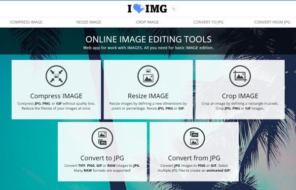 Nouvel outil d'édition de photos en ligne IloveIMG