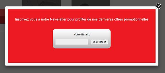 Créer un site internet Cmonsite afficher un popup d'abonnement newsletter