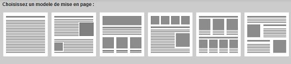 Choisir un modèle pour chaque page de votre Site