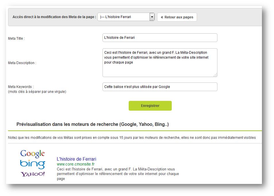 Créer un site optimisé pour le référencement avec CmonSite