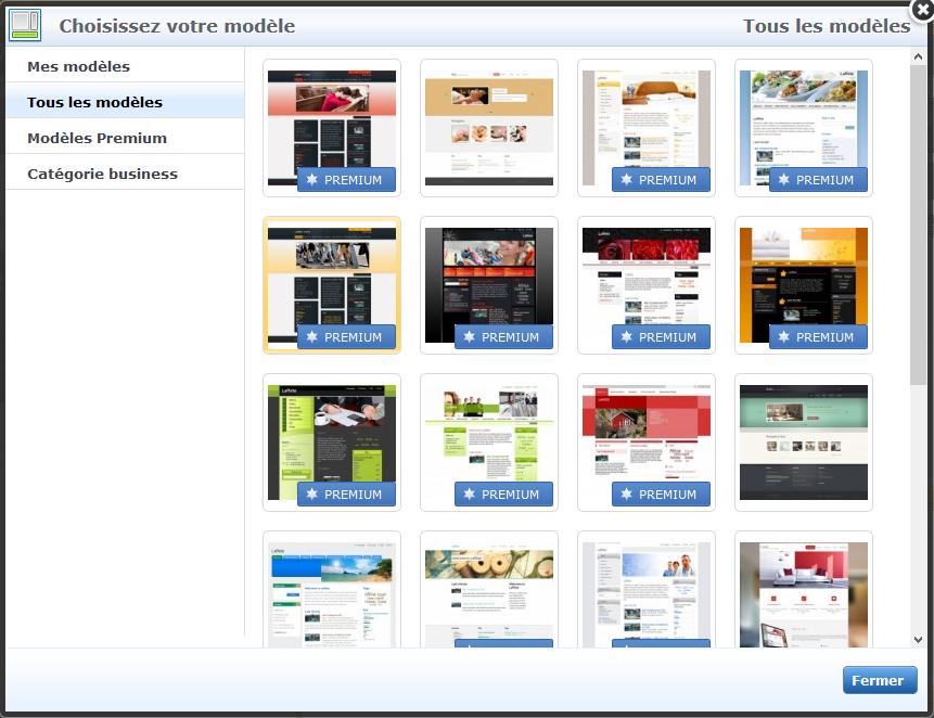 Webnode avis sur le choix des designs et templates