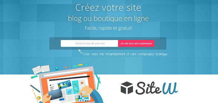 SiteW comparatif CMS outil de création de site internet