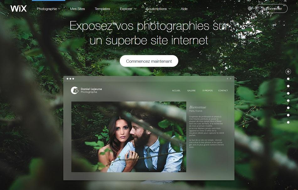 Wix galerie pro portfolio en ligne