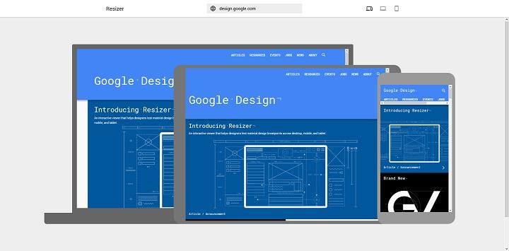 resizer outil google designer web