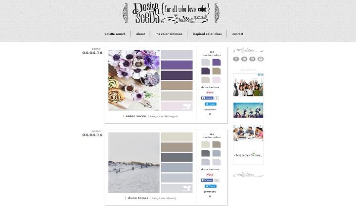 Trouver palette de couleur harmonieuse avec design seeds