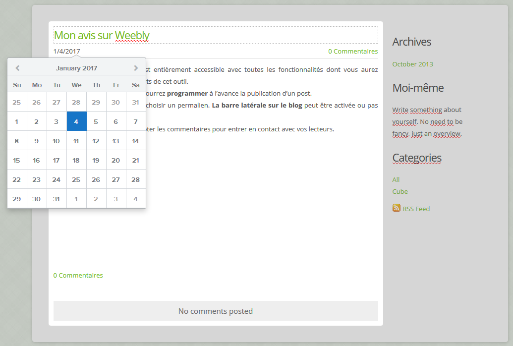 Créer un blog avec Weebly avis