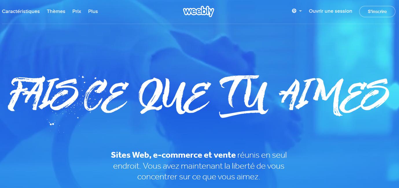 Test et avis sur Weebly logicil de création de site web