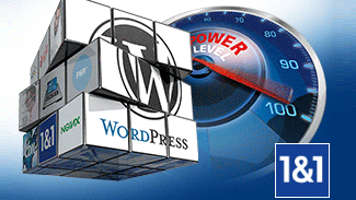 Offre d'hébergement WordPress 1and1 managed WP